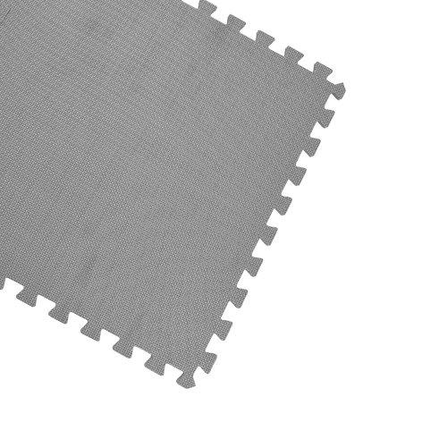 Gray 128 Flooring Interlocking Puzzle Mats
