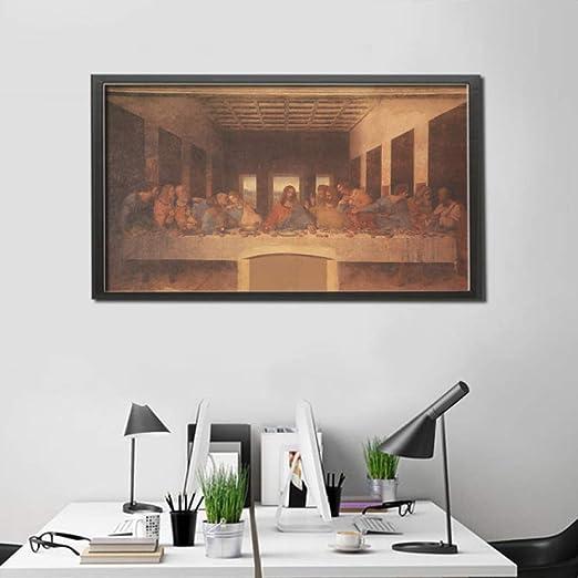 Leonardo Da Vinci Cuadros Famosos La Última Cena Cartel de Papel ...