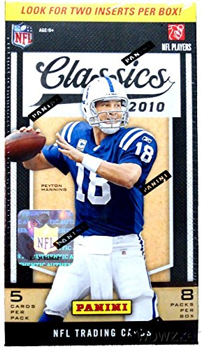 2010 Panini Classics NFL Football Factory Sealed Retail Box with 8 Packs! Includes 2 Inserts Per Pack! Look for Rookies and Autographs of Rob Gronkowski,Dez Bryant,Tim Tebow and More ! ()