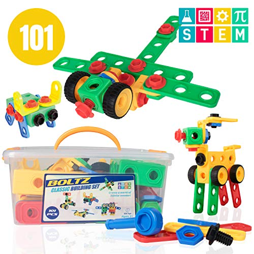 STEM Building Toys for Kids – 101pk Educational Blocks
