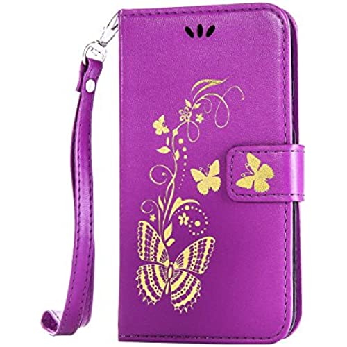 For S7 Case,S7 Leather Case,Samsung S7 Cases wallet,Nacycase flip case with card pockets cover for Samsung Galaxy S7 (purple) Sales