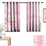 Best Greenland Home Home Fashion Pinks - Luckyee Light Pink Customized Curtains Music Notes Pitch Review
