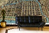 Chicago Business District Birds-eye View - 1898 Wall Map Mural - Peel and Stick 3-Panel, 125'' x 83''