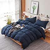 Colourful Snail 3-Piece Luxury Duvet Cover Set, Includes Duvet Cover and 2 Matching Pillow Shams, Ultra Soft and Easy Care, Wrinkle & Fade Resistant, Queen/Full, Navy
