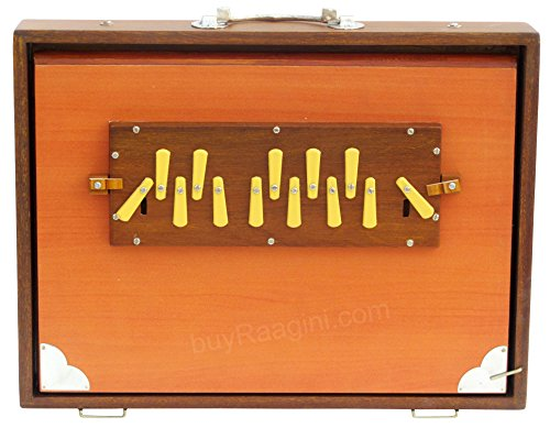 Shruti Box, Maharaja Musicals, Large, Natural Color, 16x12x3 Inches, 13 Notes, Surpeti, Sur Peti, Long Sustain, Professional Quality Shruthi Box, With Bag (PDI-BCG) by MKS