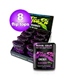 Teaza Black Cherry Herbal Energy Pouch Flip Top 8 Pack