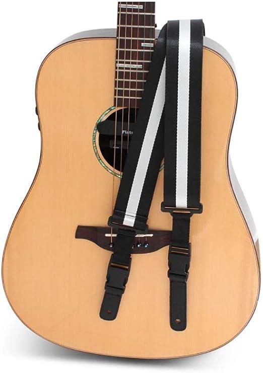 Correa de guitarra Negro y blanco Denim correa de la guitarra ...