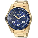 Nixon Men's 'Descender' Swiss Automatic Stainless Steel Casual Watch, Color:Gold-Toned (Model: A9592735)
