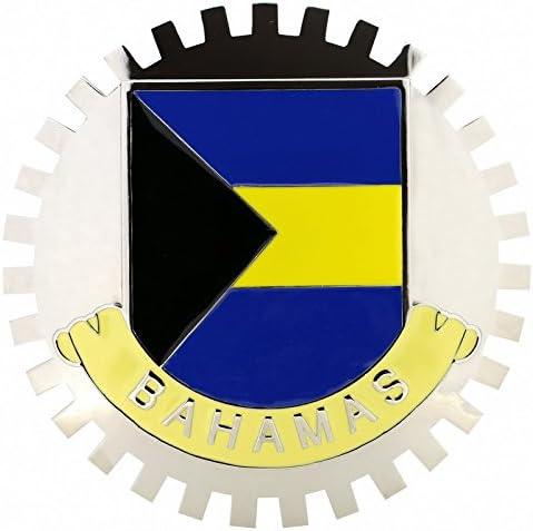 FLAG OF BAHAMAS-CAR GRILLE EMBLEM BADGES