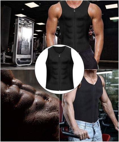Herren Schwei/ß Weste Neopren Abnehmen Shirt Gewichtsverlust Sauna Anzug Taille Trainer Top