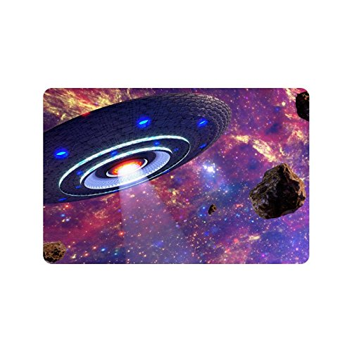 ADEDIY New Custom Non Slip Door Mat UFO Machine Washable Doo