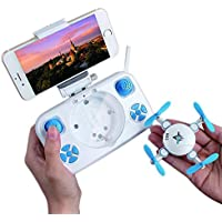 Mini Foldable Drone Wifi Real-time Quadcopter with Altitude Hold and Headless Mode Pocket 2.4GHz Remote Control Drone with HD Camera