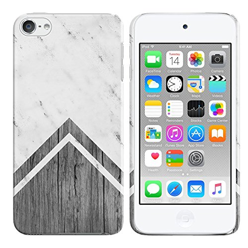 FINCIBO Case Compatible with Apple iPod Touch 5 6 7th Gen 2019, Back Cover Hard Plastic Protector Case Stylish Design for iPod Touch 5 6 7 - Arrowhead White Wood (Wood 5 Case Ipod)