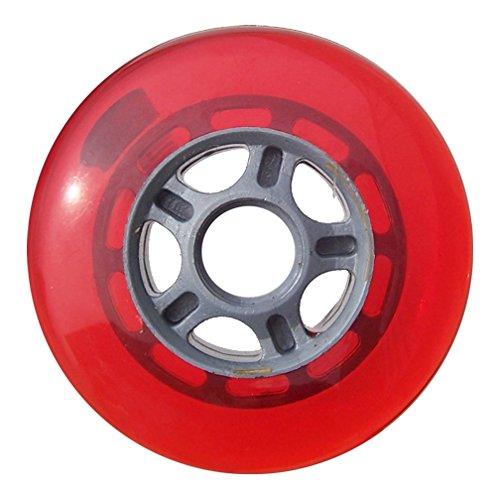 プラスチックハブスクーターホイールシルバー/レッド5スポークハブ100 mm