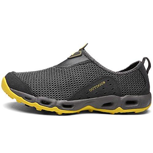 Jeater Damen / Herren Wanderschuhe Outdoor Atmungsaktive Mesh Water Shoes Dunkelgrau11