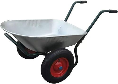 Carretilla de 66 L / 150 kg, resistente, doble rueda, resistente, para herramientas de jardín/residuos de transporte, carrito de transporte 133 x 71 x 64 cm: Amazon.es: Bricolaje y herramientas