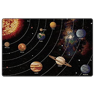"Flagship Carpet Children Learning Floor Playmat Nylon Solar System Orbit (Tranquility) - 5'10"""" x 8'4"""" Toys Christmas Gift"