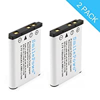 SmilePowo 2 Pack Batteries for LI-42B, LI-40B, NP-45, NP-80, EN-EL10, KLIC-7006, D-LI63, D-LI108, Olympus Stylus 1070, 1200, 7000, 7040, Tough 3000, TG-310, VR310, Digital Camera Light-compensating