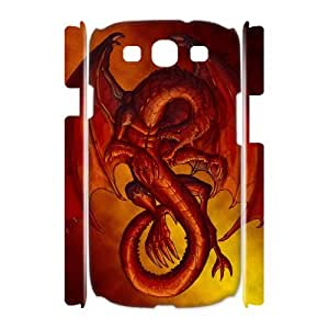 DIYCASETORE Case Red Dragon Customized Gifts Hard Case For Samsung Galaxy S3 I9300