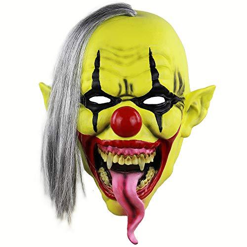 Xiao Chou Ri Ji Scary Sinister Halloween Latex Clown mask Lifelike Party Costume Role Play Props -