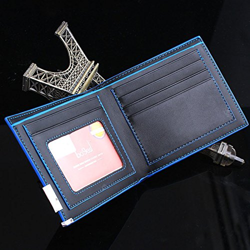 Longay Men Stylish Bifold Business Leather Wallet Card Holder Coin Wallet Purse