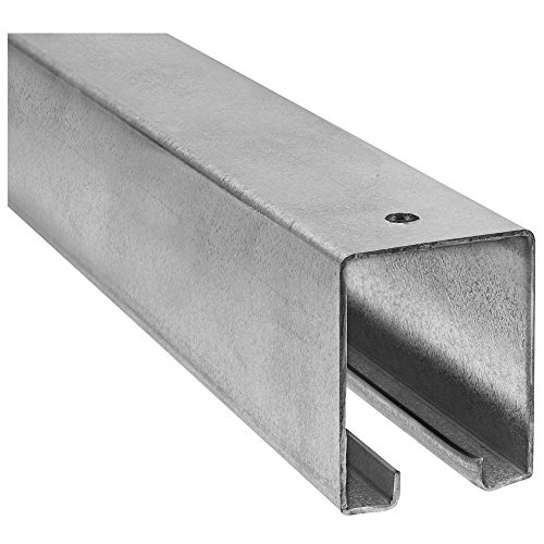 Stanley Sliding Door Hardware (National Hardware N105-726 5116 Plain Box Rail in Galvanized, 8')
