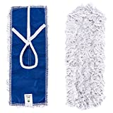 16'' Mop Heads Commercial, Replacement Cotton Mop Heads Washable Cleaning Floor Mop for Hardwood Floor Clean, Office, Garage Care, Laminate, Tile Flooring, Home and Commercial Use