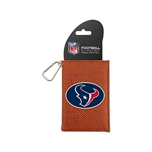 Houston Texans Card Holder - NFL Houston Texans Classic Football ID Holder, One Size, Brown