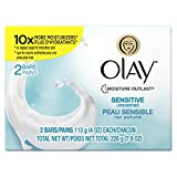 Olay Sensitive Bar Soap Bath 2-Bar 4 Oz