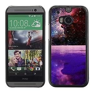 A-type Arte & diseño plástico duro Fundas Cover Cubre Hard Case Cover para All New HTC One (M8) ( Hermosa galaxia Espacio Planet )