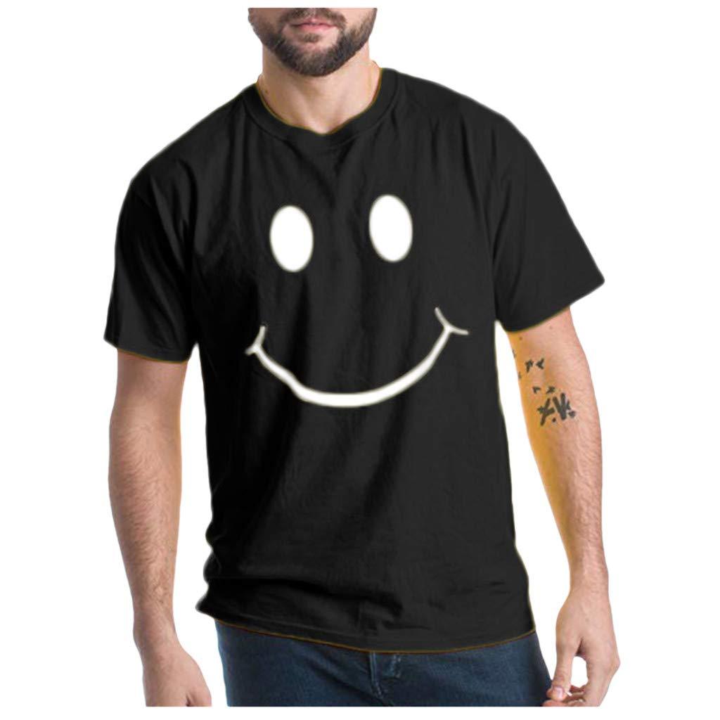 Italily Estate /Uomo T-Shirt Moda /Casuale Stampare Manica Corta Maglietta /Camicetta Camicette Casual Sportiva Elegante Stampa Maglietta T-Shirt Uomo Vintage Tumblr Estiva Camicetta