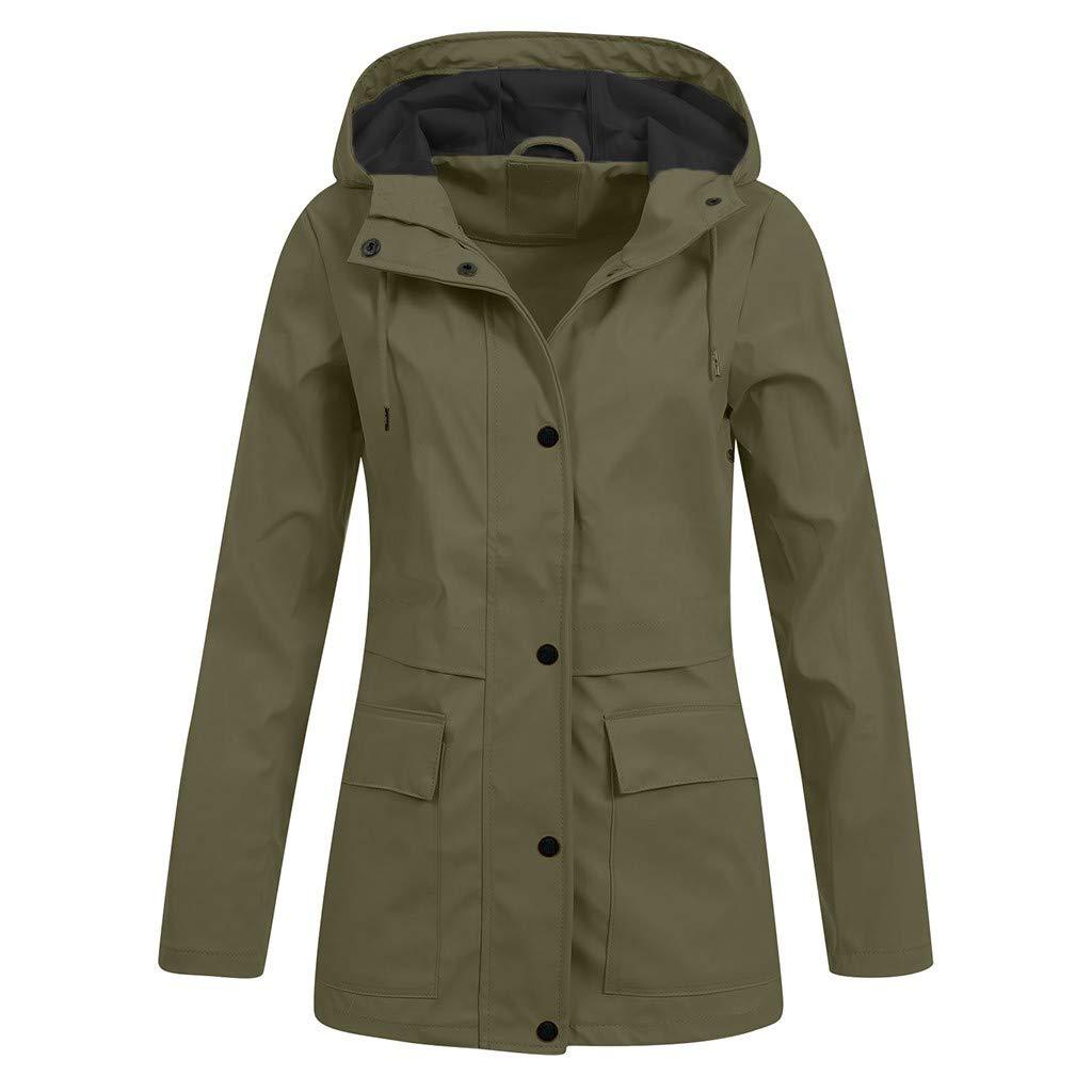 finest selection wholesale online dirt cheap BaojunHT Ladies Waterproof Jacket Hoodie Rain Mac Solid Outdoor ...