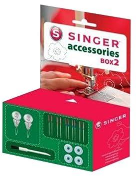 Singer 292118 Box 2 - Caja de accesorios de costura para máquina de coser: Amazon.es: Hogar
