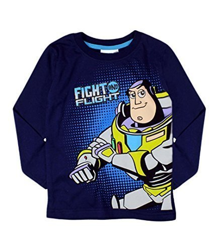 Disney Toy Story Buzz Fight und Flight Kinder Top T - Shirt Marine - 122