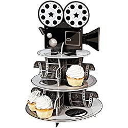 Fun Express Movie Reel Cupcake Holder Foam Your Oscar Party Novelty, 12 x 17-1/4""