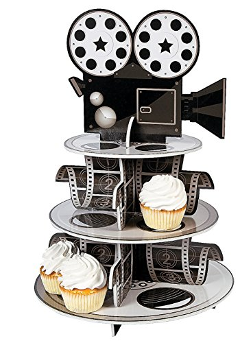 Fun Express Movie Reel Cupcake Holder Foam for Your Oscar Party Novelty 12 x 171/4quot