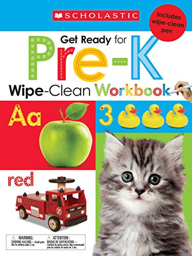 Wipe-Clean Workbook: Get Ready for Pre-K (Scholastic Early Learners)