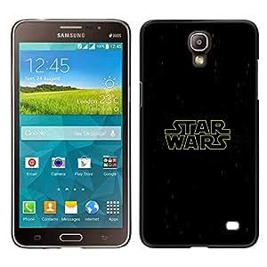 Guerra de las Galaxias - Metal de aluminio y de plástico duro Caja del teléfono - Negro - Samsung Galaxy Mega 2