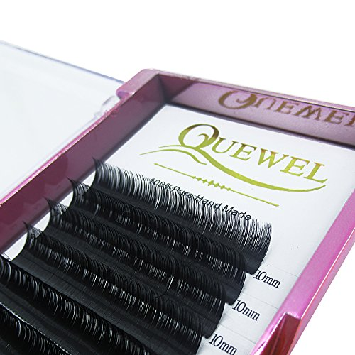 Handmade Soft Natural Mink Eyelash Extensions 0.07 Curl C/D Length From 6MM To 18MM Soft Individual Lashes Tray For Eyelash Extensions(0.07 C Curl, 9mm)