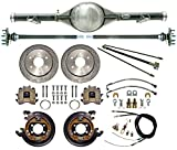 CURRIE 63-70 CHEVY C-10 TRUCK 2WD 6-LUG REAR END W/DRILLED DISC BRAKES, LINES, PARKING BRAKE CABLES, AXLES, BEARINGS, 9'' FORD, 1964, 65, 66, 67, 68, 69, CHEVROLET GMC C15 C1500 W/ TRAILING ARMS