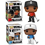 Who's That Wearing Blood Red On Sunday? Tiger Woods Funko Pop! Pack - Tiger Golf Red Shirt 01 + Tiger #04 Fanatics Exclusive
