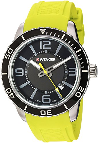 Wenger Men's 'Roadster' Swiss Quartz Stainless Steel and Silicone Casual Watch