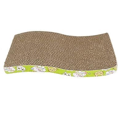 S-Shape Corrugated Board Cat Scratcher Seize Scratching Pad Catnip Bed