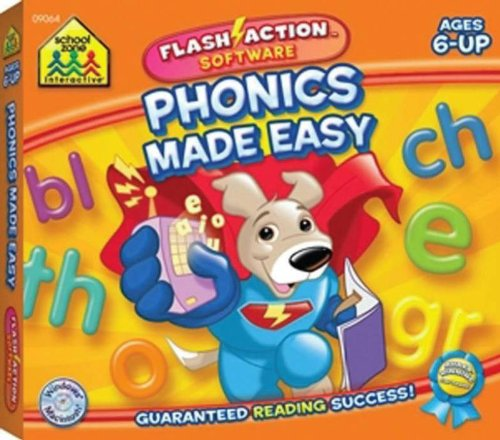 School Zone Publishing SZP09064 Phonics Made Easy Flash Action Software by School Zone