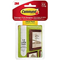 Command 3M 12ct Pack Picture & Frame Hanging Strips Sets...