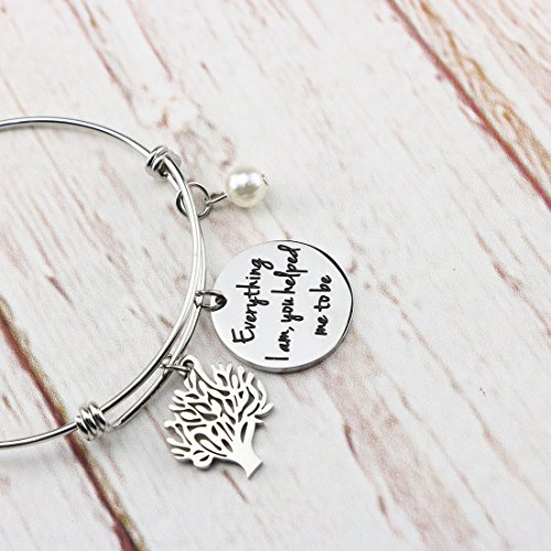 Awegift Expandable Bracelet Tree Life Wedding Party Jewelry Gifts Everything I am, you helped me to be by Awegift (Image #1)