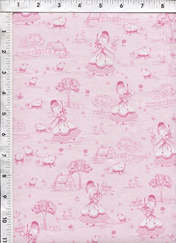 - Timeless Treasures Little Bo Peep Pink Toile Fabric