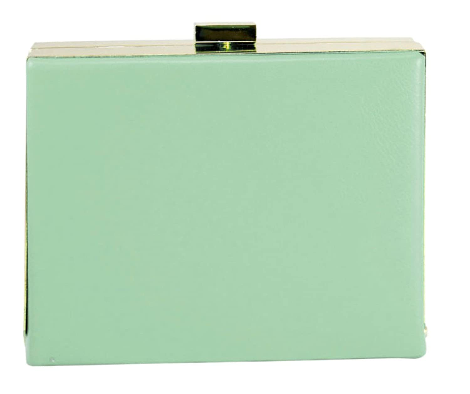 New Neon LYDC Box Clutch Bag Hard Case Evening Designer Leather Green Coral  Blue: Amazon.co.uk: Luggage