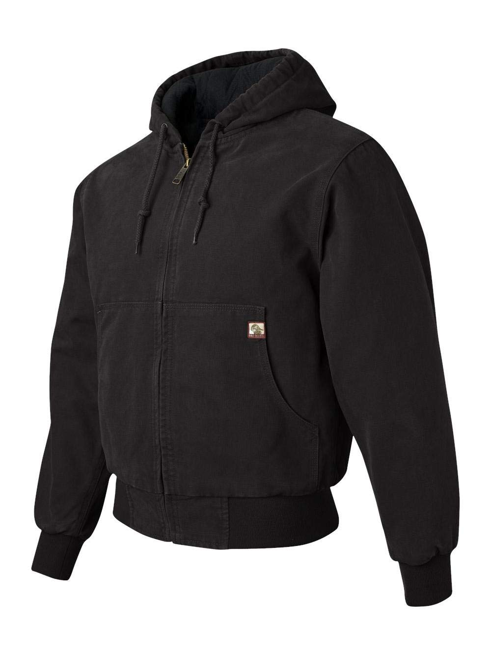 DRI Duck - Cheyenne Hooded Boulder Cloth Jacket with Tricot Quilt Lining - 5020 - XS - Black by DRI Duck