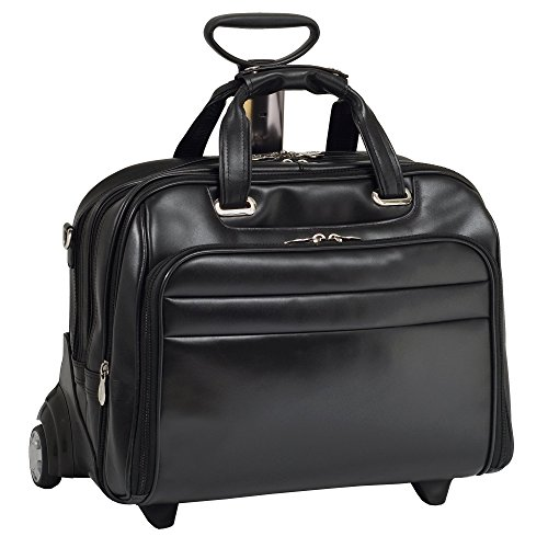 Check-Point Friendly Wheeled Laptop Case, Leather, 15.6